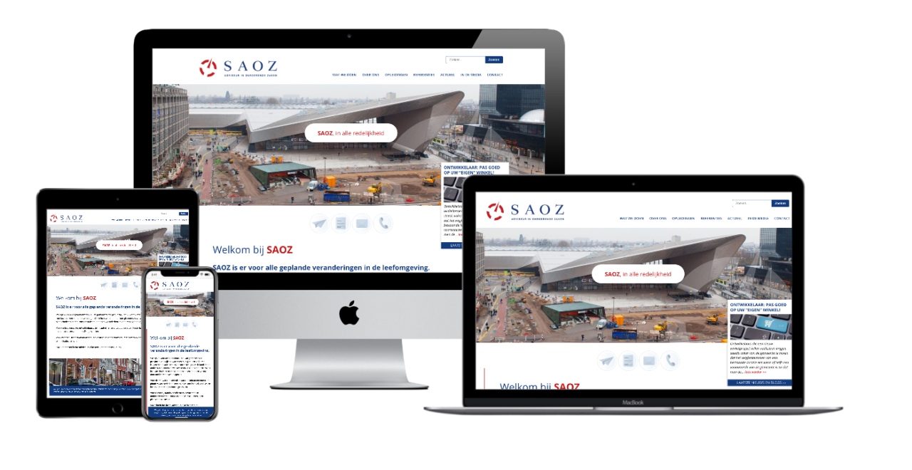 SAOZ website responsive